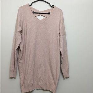 Dreamers pink sweater Sz S